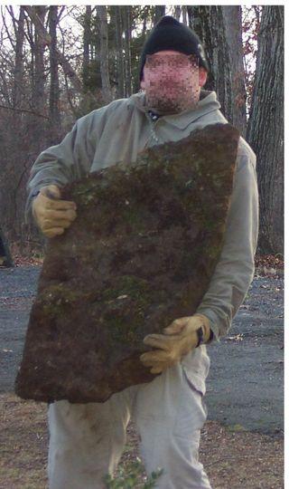 Demlein stone lifting. pixelated